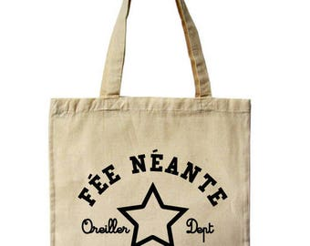 Tote bag / fairy neante, 100% high hanse cotton grocery bag, ecru.