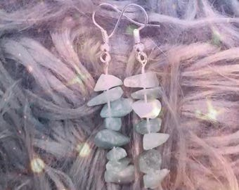 Handmade Droop crystal earrings