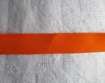 bright orange heel in tergal polyester in height 1.5 cm