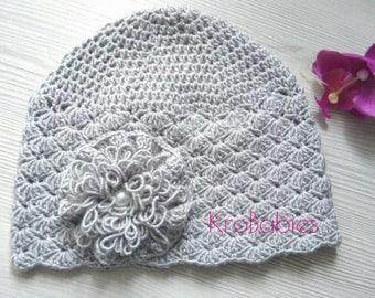 Vintage ALMA crochet baby Hat