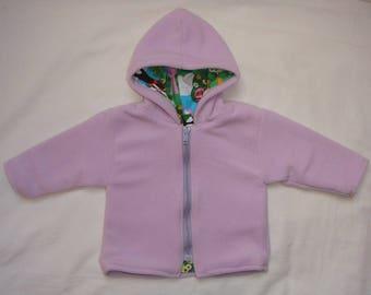 Girl pink Fleece Hooded Sweatshirt