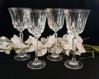 crystal stemware set of 4 crystal wine glasses crystal wine glasses crystal glasses