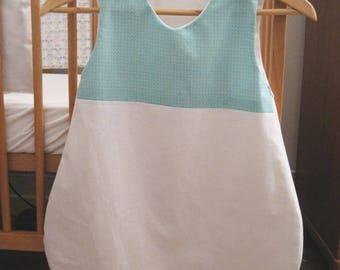 G01 - Summer sleeping bag turquoise square Scandinavian pattern - sleeping bag