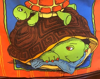 Vintage Franklin The Turtle Pillowcase Standard size Cartoon Character Tv Books.