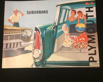 Very cool Mid century Plymouth suburban dealer brochure