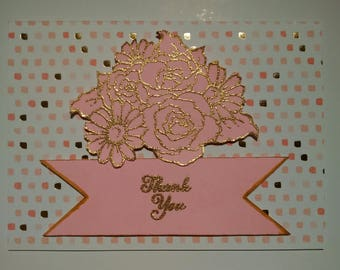 Pretty Pink Thank You Card