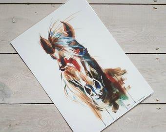 Equestrian Arab Arabian Horse Abstract Portrait Fine Art Print