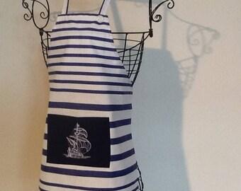 Navy apron