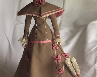 "Franklin Heirloom ""Day At The Race"" Porcelain Doll"