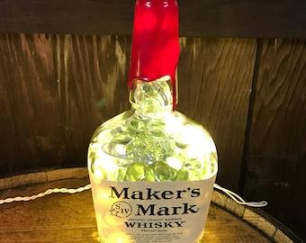 Maker's Mark Lamp/Light- Man Cave, Bar Decor