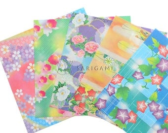 Very fine in pastel colors, patterns, Japanese origami paper