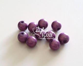 10 purple miracle ⌀ Amethyst 8 mm or magic pearls