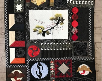 """The cranes"" unique QUILT"