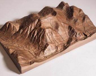 Relief carved 3D Mountain Range Ben Nevis