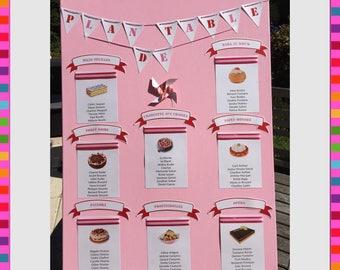 Wedding themed treats table plan