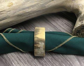 Wooden napkin rings / set. 6