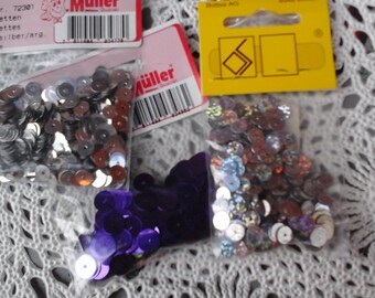 Grey and purple glitter