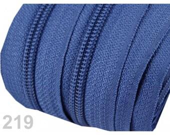 zipper at the meter blue mesh 5 mm spiral