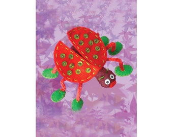 Sewing Kit to create a cute Ladybug / creative DIY complete Kit