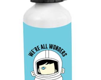 Wonder Choose Kind Aluminum Water Bottle We're All Wonders school education teachers gift anti bullying kindness positive message