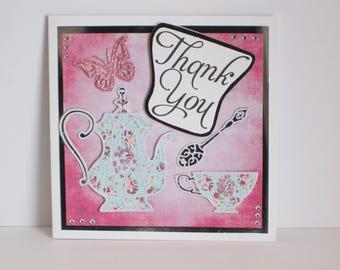 Teapot Thank You Card