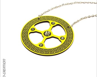 """Necklace collection GYRO """"Antic"""" (yellow/black)"""