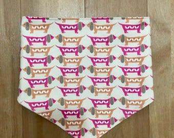 Daschund print bandana