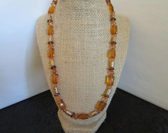 Light Brown & Gold Necklace