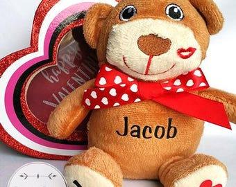 Valentines Day Stuffed Animal Valentines Day Animal Valentines Day Gift For  Him Gift