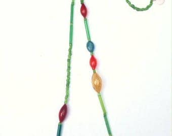 large and thin translucent glass beads necklace