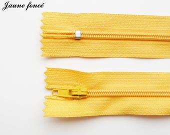 Simple not separable 20 cm zip 1: dark yellow