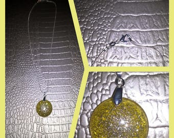 Translucent resin necklace
