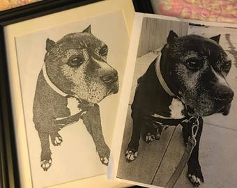 2 Dotted Doggies drawings