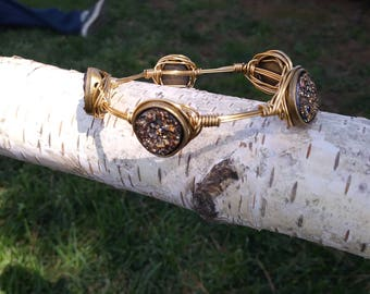 Druzy stone bangle