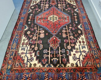 Beautiful clean as new Nahawand oriental Persian rug - 8.5 x 4.8 FT / 258 x 146 cm - hand knotted