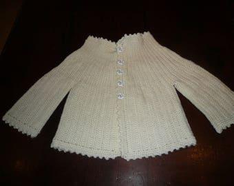 White 6/9months jacket vest off the 101 Dalmatians button hook