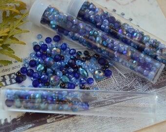 Random mix of beads ultramarine