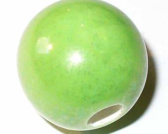 1 round ceramic bead green 18 mm CERC26V