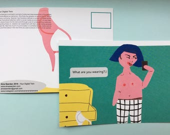Your Digital Twin - Provocateur < Print or Postcard > 10 x 14 cm