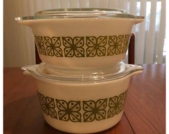 Pyrex Verde 472 473 • Green Pyrex Dish