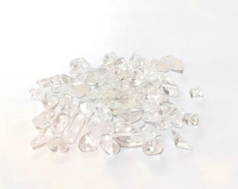 ♥ X 200 CHIPS 2 ROCK CRYSTAL GEMSTONE BEADS / 5MM ♥