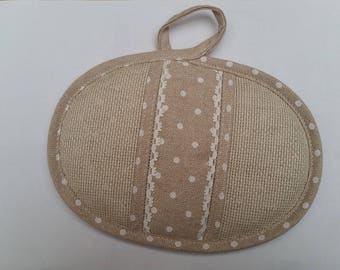 Potholder embroidery cotton, natural color