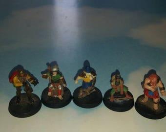 Custom townsfolk/adventurers rpg Miniatures