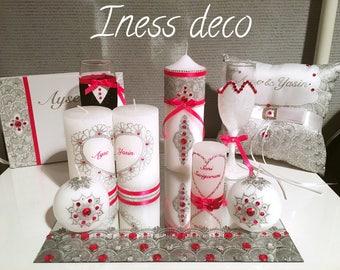 wedding candles set