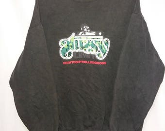 Vintage stussy sweatshirt spellout big logo jumper pullover sweatshirt size L made in usa