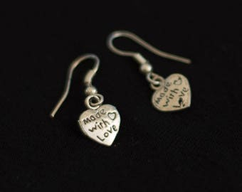 """Oreillle loop heart """"Made with Love"""""""