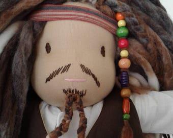 """Jack Sparrow"" type Waldorf boy doll"