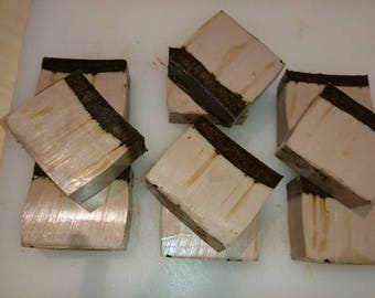 Exfoliating handmade organic soaps with coffee