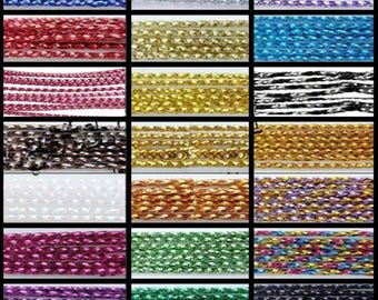 100 Mtrs 0.8mm Metallic Cord / Craft Jewellery Making - UK Seller