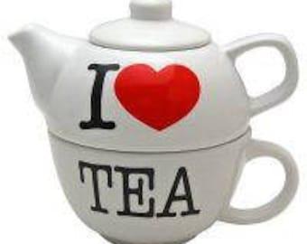 I Love Tea Teapot & Mug Set